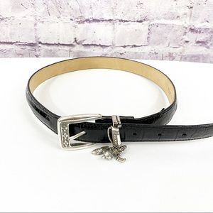 Brighton Black Womens Belt w/golf charms